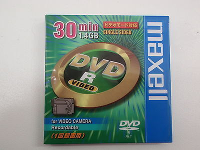 Maxell 30Mins 1.4Gb Single Sided Dvd-R For Video Camera