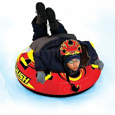 40' Large Heavy Duty Rush Snow Sled Commercial Quality Cushioned Snowing Tube