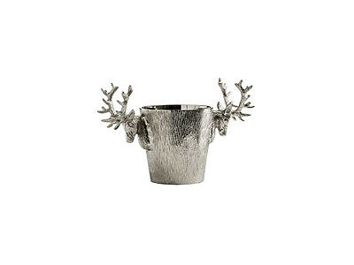 Luxury Deer Stag Head Handle Wine Champagne Cooler Nickel Silver Dinner Party 2L
