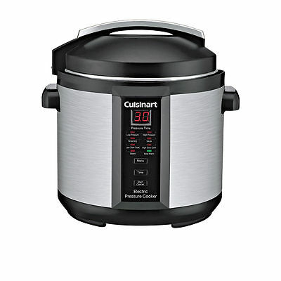 Cuisinart Electric Stainless Steel Digital LED Programmable Pressure Cooker 6L