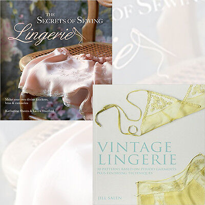 Secrets of Sewing Lingerie and Vintage Lingerie 2 Books Collection Set, New Pack