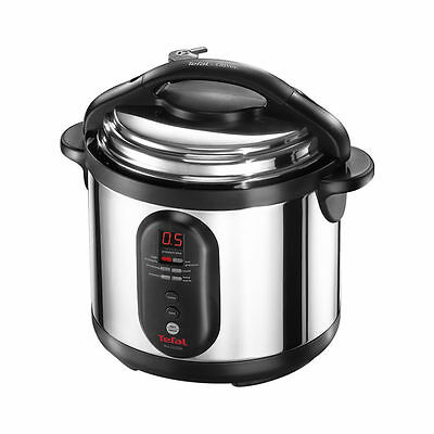 Electric Stainless Steel Programmable Pressure Cooker 6L Simmer Saute Browning