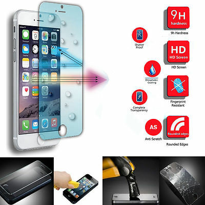 100% Genuine Tempered Glass Film Screen Protector for Apple iPhone 6s & iPhone 6