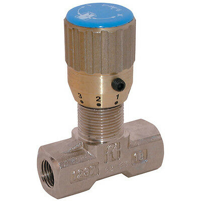 Hydraulic Needle Flow Control Bi-Directional Valve G1/4bsp Brass Ni-Plate
