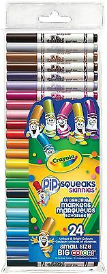 Crayola 24 Pip-Squeaks Skinnies Fine Line Washable Markers 58-4324 063652432407