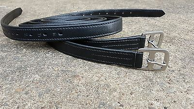 """New Pair of Soft Calf Leathers Stirrups Non Stretch Nylon Core Size 48"""" to 64"""""""