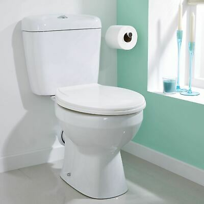 Cadley White Bathroom Close Coupled Toilet Wc Pan Seat Ceramic Dual Flush Button