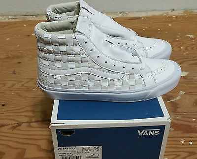 4394c7f733a2 Vans 50th OG Sk-8 Hi LX Checkered Past Woven Leather Size 9.0 supreme wtaps