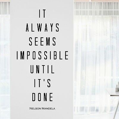Nelson Mandela Inspirational Motivational Wall Decal Quote Art Home Office Decor