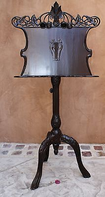 Magnificent Austrian 19 Century Hand Carved Wood Music Stand From Museum Vienna