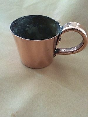 20th-Century Royal Navy 1/2 Pint Copper  Rum Measuring Cup No 53173