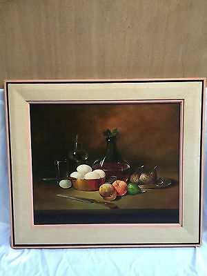 Magnificent Oil on Canvas still life painting by Langella European listed artist