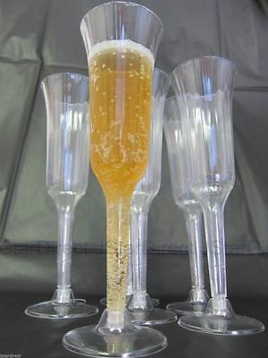 Wedding - 120 240 360 Plastic Champagne Wine Flutes Glasses!!