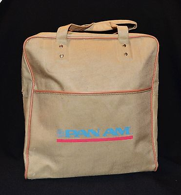 Pan Am Travel Carry On Canvas Bag With Shoulder Strap Vintage 1960's