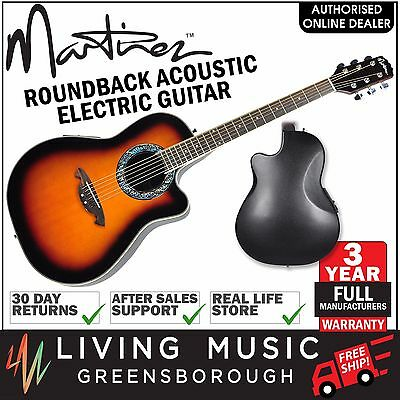 New Martinez Acoustic-Electric Roundback Cutaway Guitar