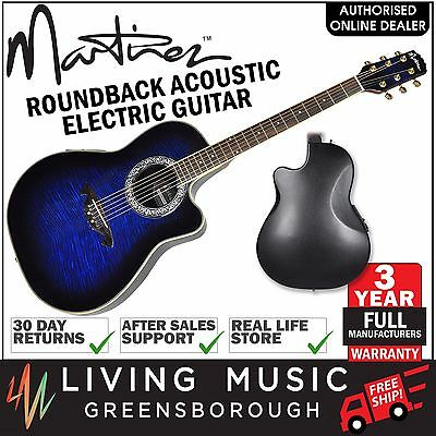 New Martinez 'Flame Finish' Acoustic-Electric Roundback Cutaway Guitar