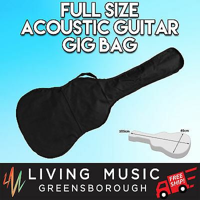 New Acoustic Guitar Gig Bag Black