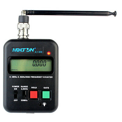 MAXTON X100 Wireless Frequency Counter 0.3MHz-2.8GHz LCD for 2-way Radio Best