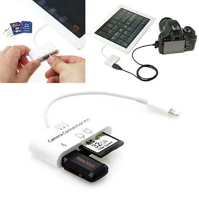 3in1 USB Camera Connection Adapter Memory Card Reader for iPad 4 Mini Air 2 1PC