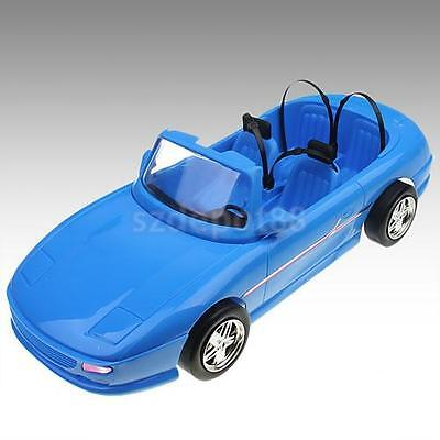1/6 Blue 4-seats Convertible Sports Car Cabriolet Toy For Barbie Ken Dolls