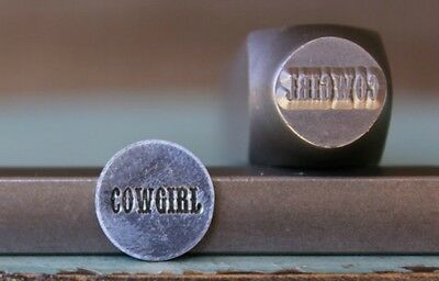 "SUPPLY GUY 10mm ""Cowgirl"" Word Metal Punch Design Stamp SGCH-88"