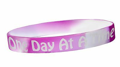 """/""""Easy Does It/"""" 12 Step Recovery Program Silicone Wristband//Sky"""