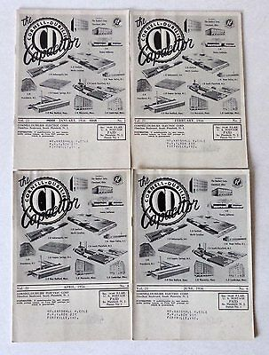 4 lot Cornell-Dubilier Capacitor Magazine 1956 Direct Read Audio-Frequency Meter