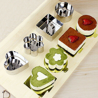 New Stainless Steel Mousse Cake Moulds Cake Ring Slicer DIY Baking Tools