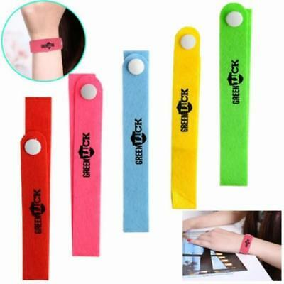 10pc Outdoor Anti Mosquito Mozzie Pest Insect Repeller Wrist Bands Bracelet FW