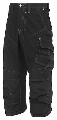 Snickers Trousers 3913 Rip-stop Pirate Work Trousers, SnickersDirect Black