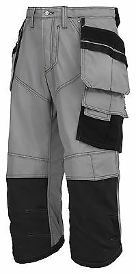 Snickers Trousers 3923 Rip-stop Pirate Work Trousers, SnickersDirect Grey