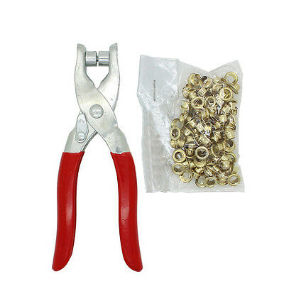 New Grommet Eyelet Setter Pliers Tool Sets For Bags Shoes Leather Punch Belt