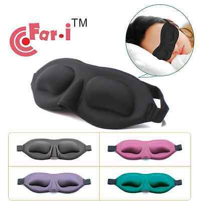 Sleeping Blindfold Aid 3D Memory Sponge Travel Sleep Eye Mask Padded Shade Cover