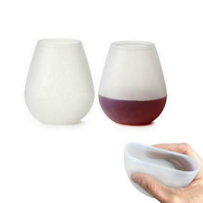 Silicone Wine Glass Unbreakable Stemless Rubber Beer Mug Outdoor Cup Glass FW