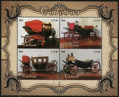 PERU 2014 Hist. Kutschen Old Carriages ** MNH