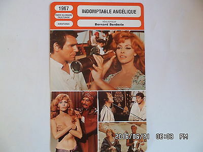CARTE FICHE CINEMA 1967 INDOMPTABLE ANGELIQUE Michele Mercier Robert Hossein