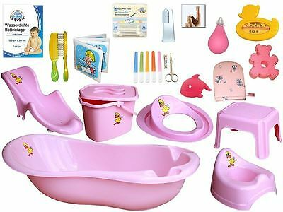 Bathtub Set 21 piece with Music + Bathtub stand pink