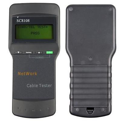 SC8108 LCD CAT5 RJ45 LAN Phoneline Wire Cable Length Tester Test 1350M