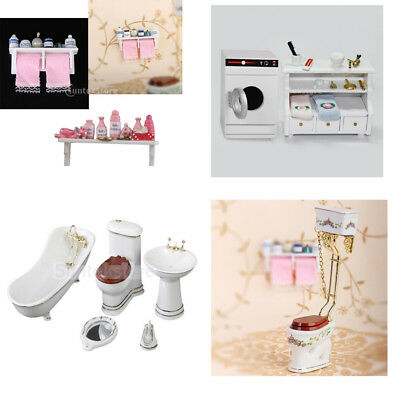 1:12 Doll House Miniature Furniture Bathroom Shower Accessories Toiletries Decor