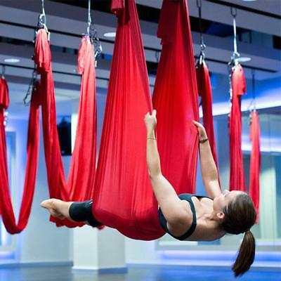 Aerial Anti-Gravity Flying Yoga Swing Hammock Inversion Sling Strap Trapeze Tool