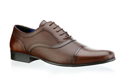 Mens Red Tape Potton Brown Leather Smart Dress Lace Up Shoes Sizes UK 7 - 12