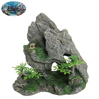 Rock Formation Aquarium Ornament Decorative Cave Hide Fish Tank Bowl Decoration