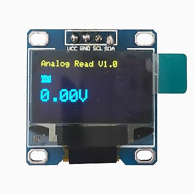 "128X64 OLED LED Display Module For Arduino SSD1306 0.96"" I2C IIC Blue Yellow"
