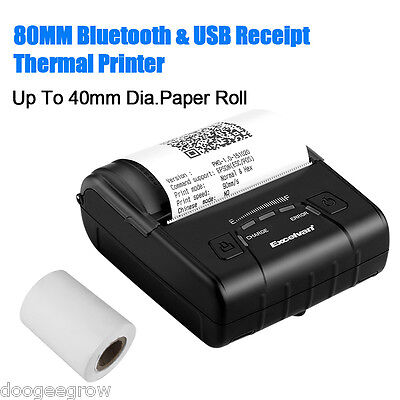 Portable Wireless 80mm Bluetooth Thermal Receipt Printer for Android Windows UK
