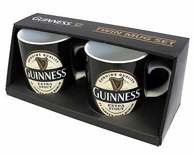 Guinness Label Mini Mug 2 Pack