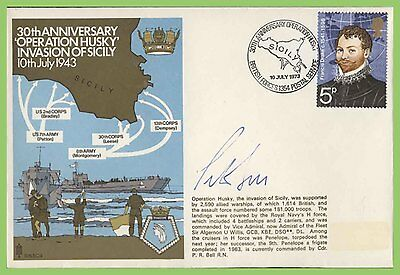GB 1973 Operation Husky Invasion of Sicily Commemorative Cover Signed