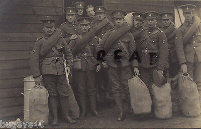 WW1 Soldier Group RAMC Royal Army Medical Corps Marching Order Kit Bags