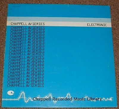 MUSIC LIBRARY CHAPPELL electronic WOLFGANG KAFER 1984 UK STEREO LP
