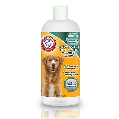 ARM & HAMMER Dog DENTAL WATER ADDITIVE Rinse Tartar Control Oral Care 32 fl oz