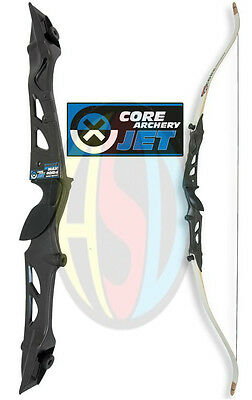 "Archery Core Jet Black Take Down 66"" Recurve Bow Pack, Right Handed, 20 - 36 LBS"